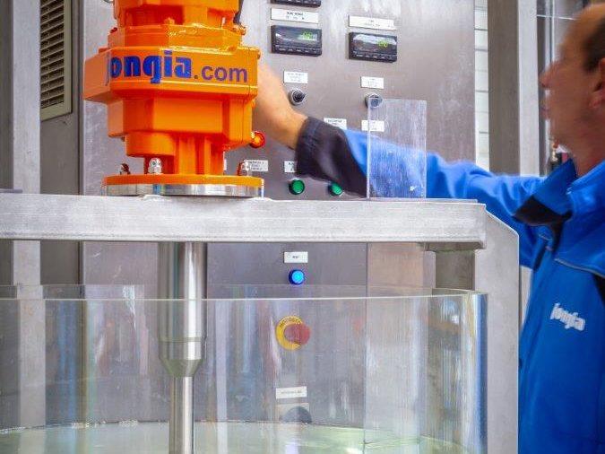 In het Technology Center van Jongia testen wij op schaal uw bedrijfsproces.