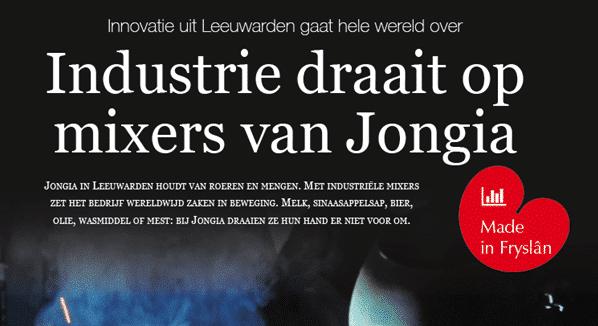 Artikel Made in Fryslân: Industrie draait om mixers van Jongia